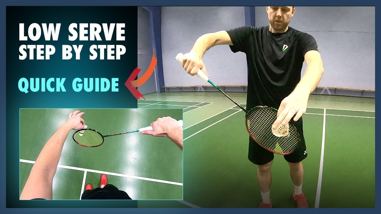 Badminton Serve Step By Step Must Learn Slows Head Cam Youtube