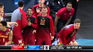 Maryland vs. Kansas: Jake Layman dunk
