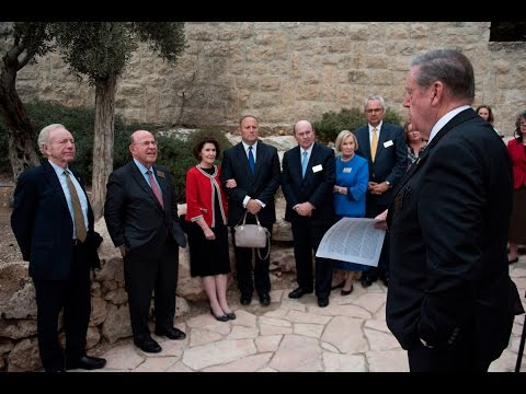 At a Glance: Mormon and Jewish Delegation Gathers at Historic Jerusalem Site