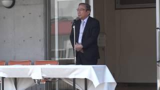東京工業大学学長 三島良直大会長による挨拶(第56回五大学レガッタ開会式)