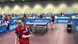 Tina Lin vs Angela Guan YOG Trials