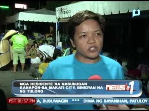 News@1: Mga residente na nasunugan kahapon sa Makati City, binigyan na ng tulong