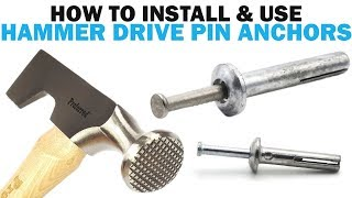How to Install Hammer Drive Pin Concrete Masonry Anchors | Fasteners 101