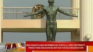 Parusang reclusion perpetua para sa 5 miyembro ng Scintilla Juris Fraternity, pinagtibay ng SC