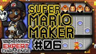 100x Mario Challenge - EXPERT COURSES | Super Mario Maker #06 (Let's Play Wii U Gameplay)