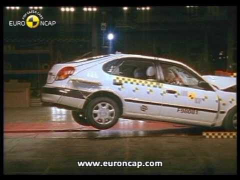 euro ncap toyota corolla 1998 crash test youtube. Black Bedroom Furniture Sets. Home Design Ideas