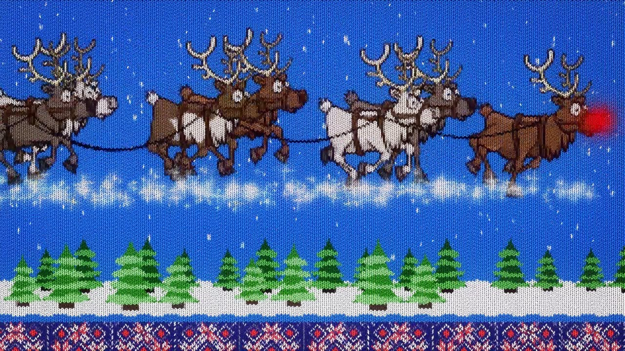 animated christmas card template  woollen greetings  youtube