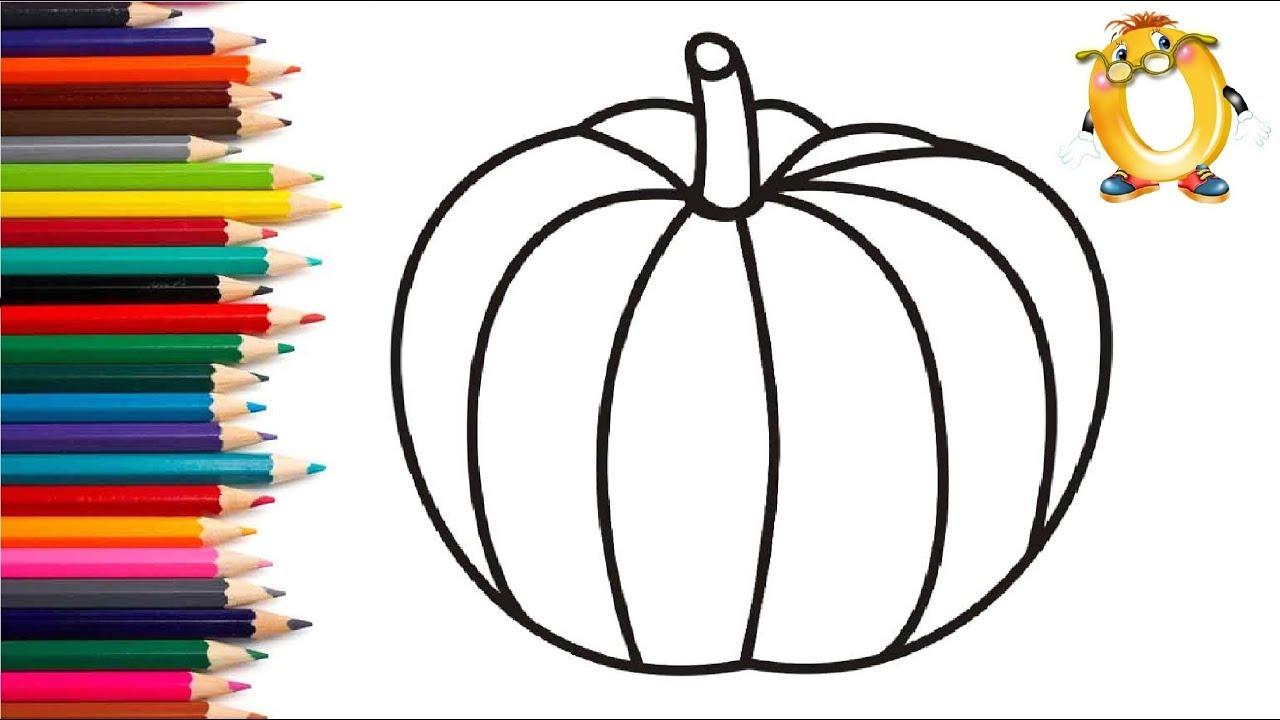 Раскраска для детей ТЫКВА. Мультик - Раскраска. Учим цвета ...