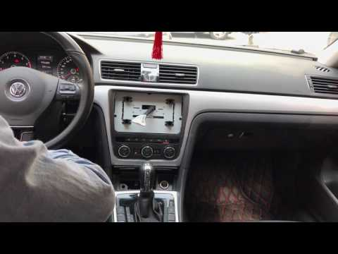 "Testing Joying 10.1"" sepcial android head unit in VW passat 2015 shows climate control"