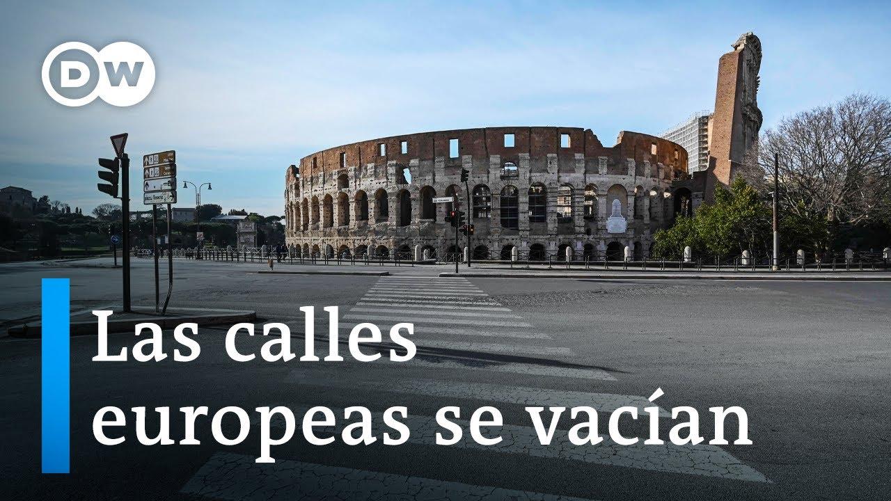 El coronavirus paraliza a Europa