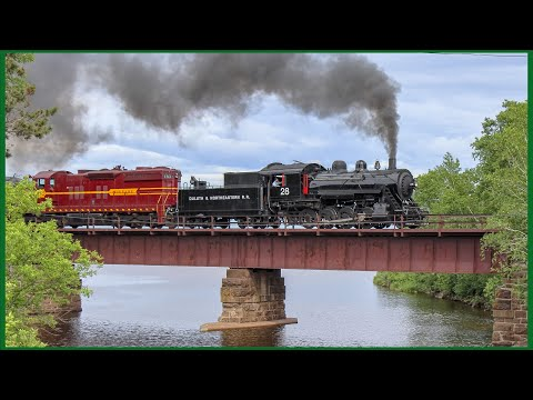 Steam Weekend: Duluth & Northeastern #28 to Two Harbors