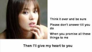 Cliff Richard - If I give My Heart to You (with lyrics)