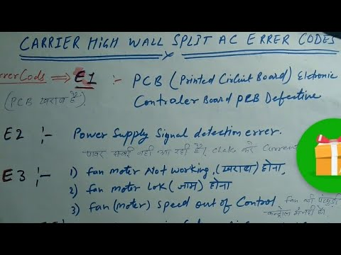 Carries ac Errer Codes