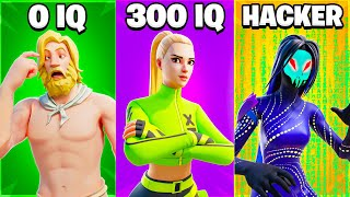 *NEW* Fortnite HACKER vs 300 IQ vs 0 IQ!