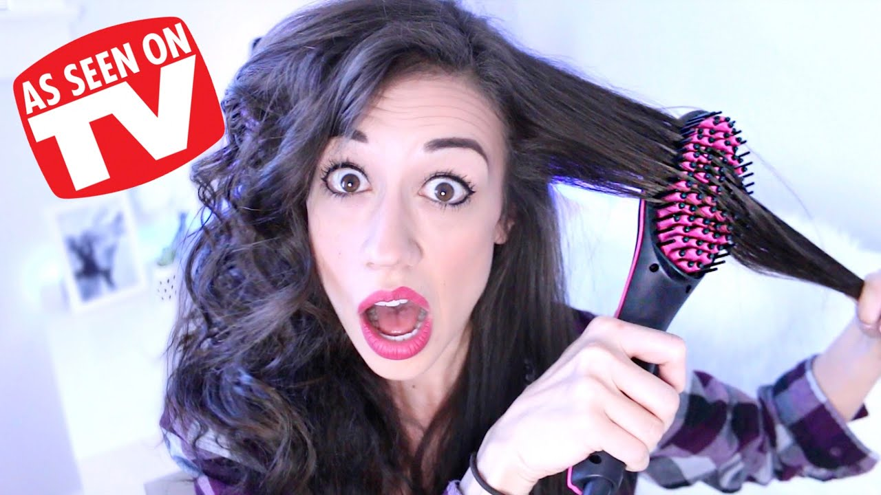 TESTING STRAIGHTENER BRUSH