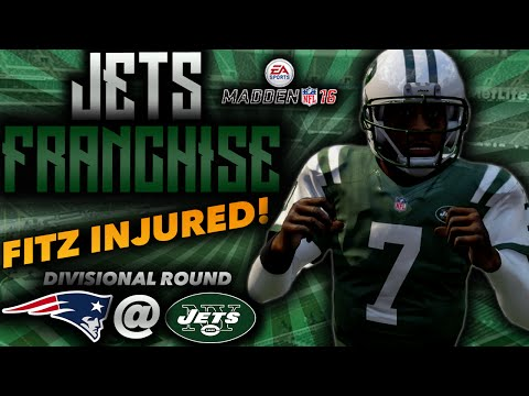 FITZPATRICK INJURED IN THE PLAYOFFS!!! WIN OR GO HOME VS. PATRIOTS | Jets Franchise (Madden 16)