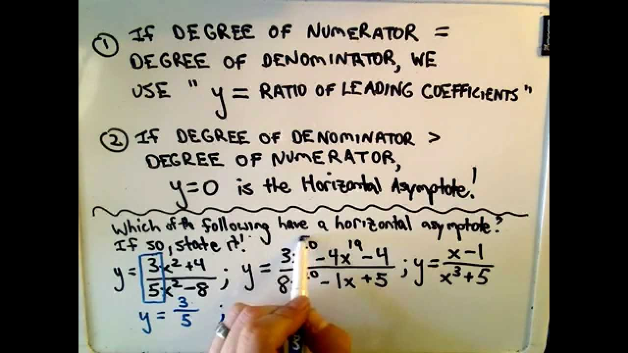 Shortcut to find horizontal asymptotes of rational functions youtube ccuart Gallery