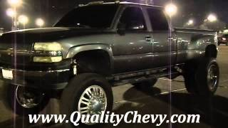 Chevrolet Silverado Dually With Semi Truck Wheels and Tires RaceLegal.com 12-21-2012