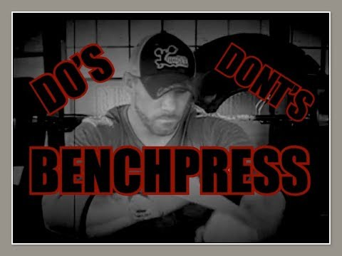 brian alsruhe the dos and don'ts of the bench press