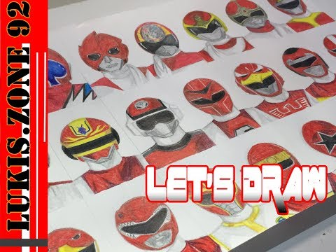 Let's Draw Red Super Sentai (Part1)