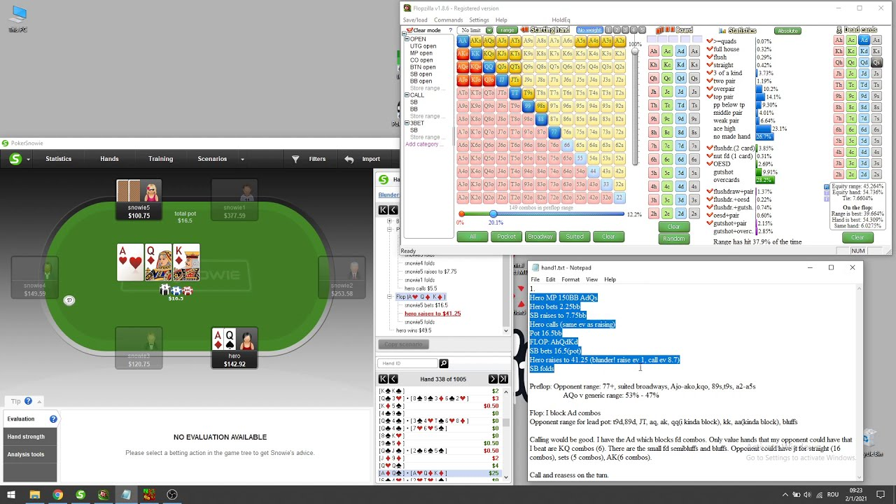 Download Pokersnowie Training Review Hand1