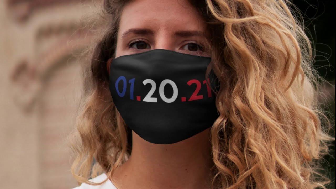 January 20, 2021 Inauguration Day Face Mask + Joe Biden & Kamala Harris Historic Win, Election 2
