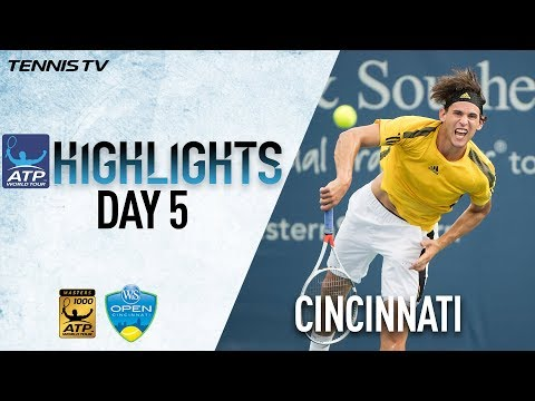 Highlights: Isner, Thiem Move Into Cincinnati Quarters
