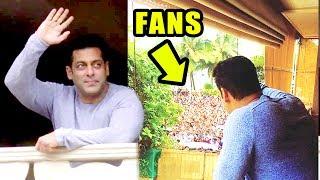 INSIDE Video Salman Khan Wishing Eid Mubarak To Fans Outside House Galaxy Apartments In Bandra