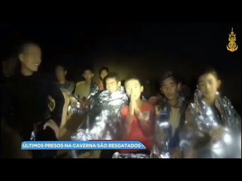 Chega ao fim resgate de crianças em caverna na Tailândia
