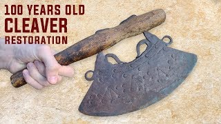 Real Antique Rusty Cleaver Restoration