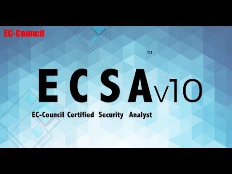 895aea6e3ca71 EC-Council Certified Security Analyst (ECSA) v10 - YouTube