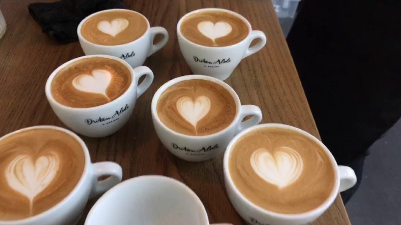 Coffee Latte Barista Tutorial Live Part 3 Latte Art Basics Heart Rosetta Tulip