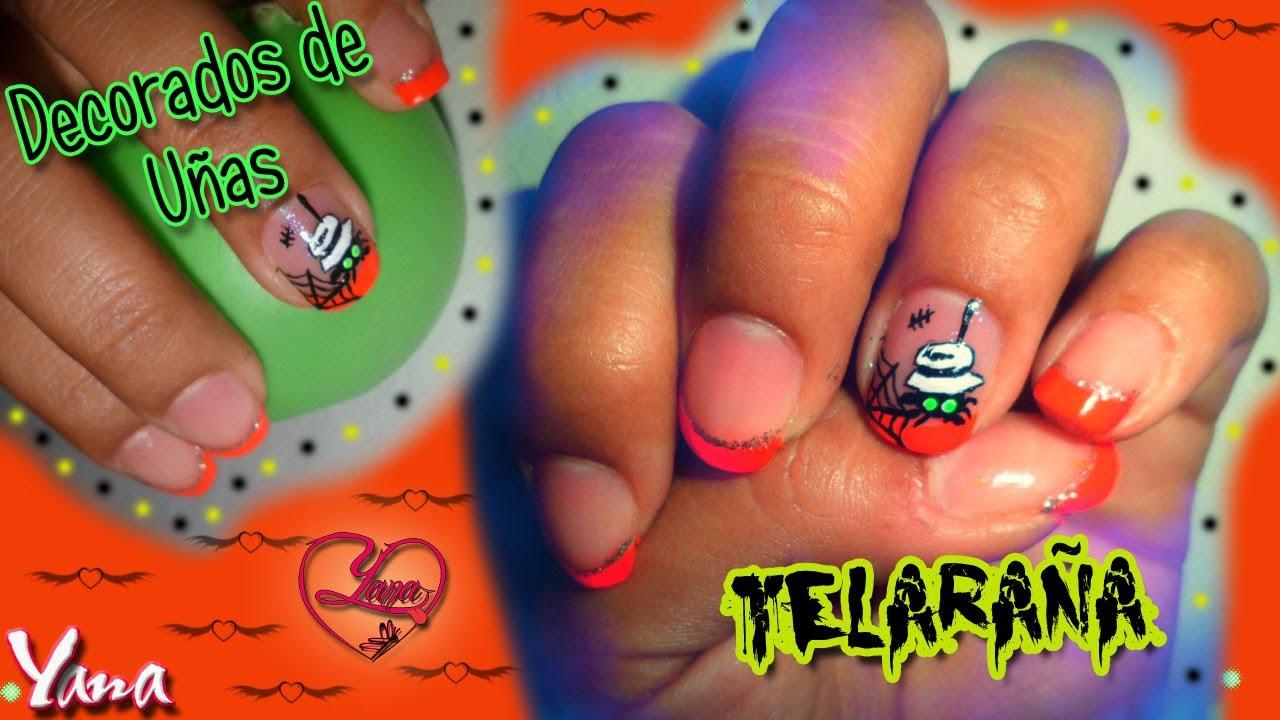 Unas Halloween Telarana Yana Nail Art Youtube