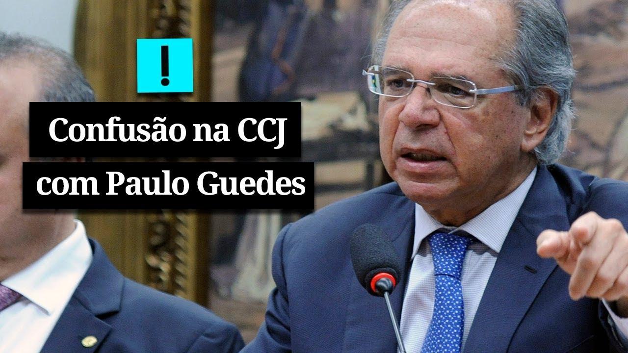 Resultado de imagem para Petistas interrompem Paulo Guedes e causam confusão na CCJ