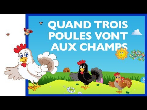 Quand trois poules vont aux champs - Comptine bébé -  Baladidous (HD)