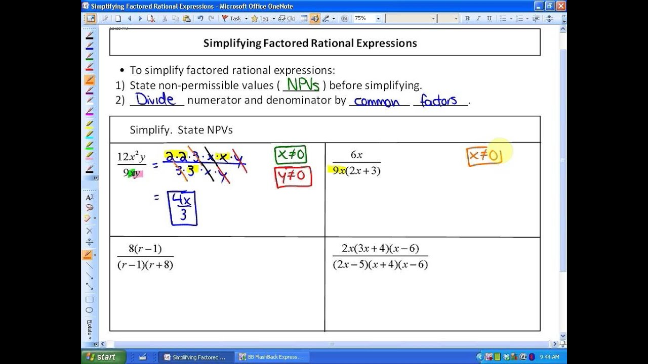 Lesson 4 5 Solving Rational Equations