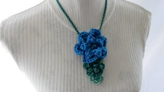 In this week's tutorial I show you how to crochet my beaded double layered flower, which if crocheted in three different weight yarns can be made into my ...