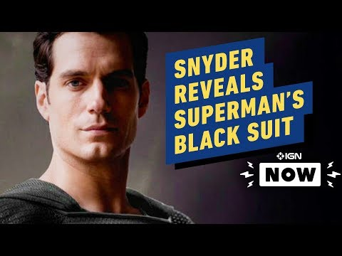 Zack Snyder Reveals Superman's Black Costume From Justice League's Snyder Cut - IGN Now