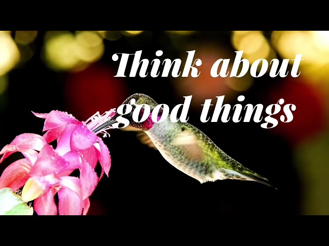 Think about good things