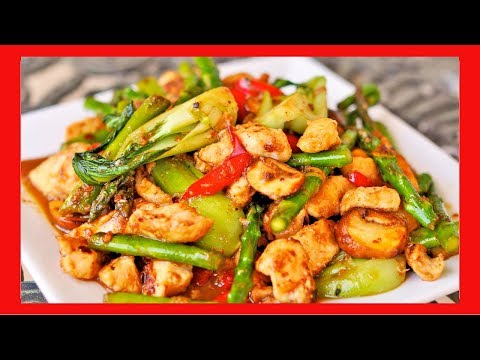 Orange Chicken with Vegetables Stir Fry - YouTube