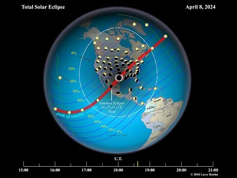 Next Total Solar Eclipse In The USA On April 8, 2024 (Animated)