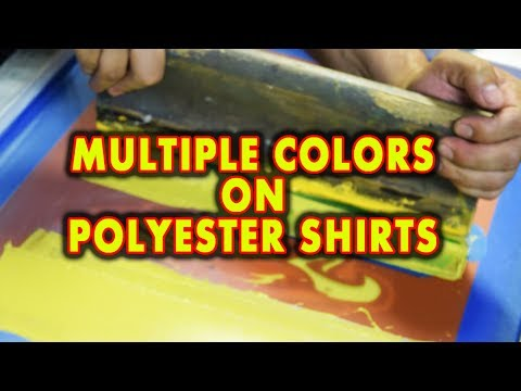 Printing Polyester Tee Shirts with Multiple Colors