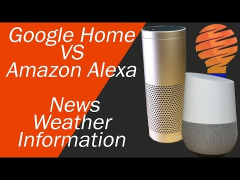 Google Home vs Amazon Alexa - Getting News and Information