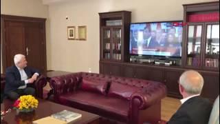 Kemal Kılıçdaroğlu, Ekrem İmamoğlu'nun konuşmasını kurmaylarıyla izledi