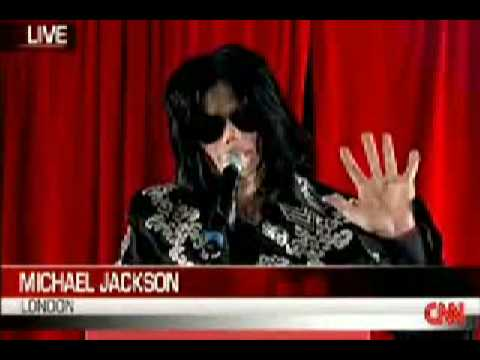 Michael Jackson press conference at the O2, London 2009