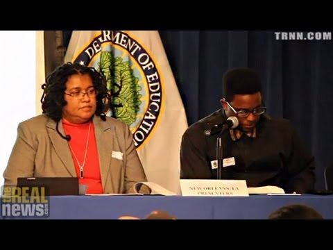 """New Orleans Parent and Activist Karran Harper Royal at """"Journey for Justice"""" Hearing in DC"""