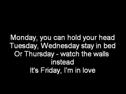The Cure-Its Friday I'm in Love-Lyrics