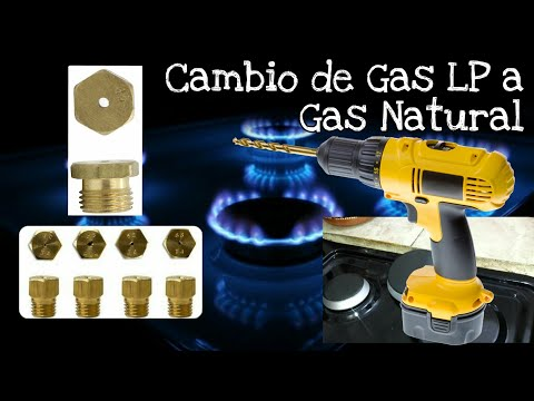 Convertir Estufa de Gas LP a Gas Natural