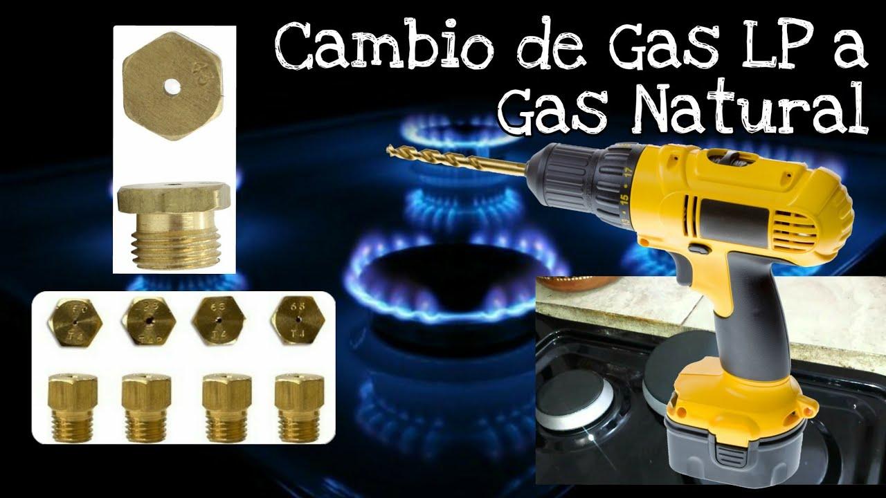 Convertir Estufa de Gas LP a Gas Natural  YouTube