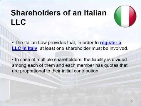 Open a LLC in Italy